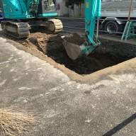 浄化槽設置施工手順の紹介-1:掘削工事