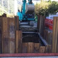 浄化槽設置施工手順の紹介-2:山留工事 つづき