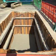 浄化槽設置施工手順の紹介-3:捨てコンクリート