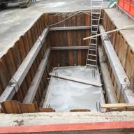 浄化槽設置施工手順の紹介-5:基礎コンクリート打設